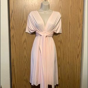 Baby pink stretchy dress